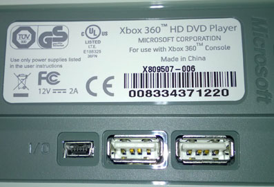 HDDVD Xbox 360 player smoked [blown capacitor] on